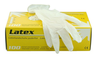 Latex-Handschuhe puderfrei