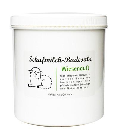 Badesalz Schafmilch mit Wiesenduft